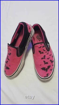 2006 Van's Pink Warped Tour Bat Trail Slip-on Shoes