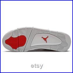 Air Jordan 4 Retro Orange Metallic, Jordan Shoes, Air Jordan, Unisex Basketball Hypebeast Sneakerhead Kicks Shoes Actual Photos