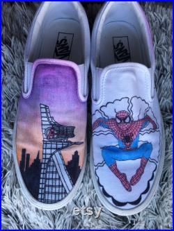 Avengers X Spider-Man custom vans