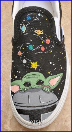 Baby Yoda Grogu In Space Shoes