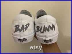 Bad Bunny Custom Made Vans