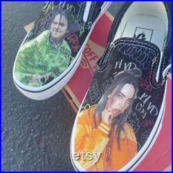 Billie Eilish Custom Sneakers Slip On Vans