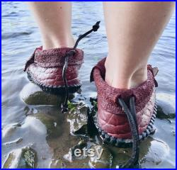 Bison Raw Cut Inca Moccasin Grounding EARTHING WOMENS MENS Nature Leather Festivals Renaissance Woodland