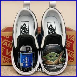 Build Your Own Kid or Baby Star Wars Vans Custom Painted