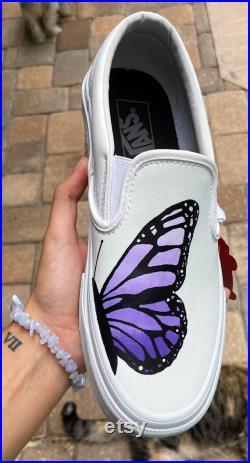 Butterfly Leather Van Slip ons