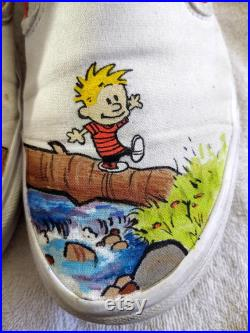 Calvin and Hobbes Exploring Custom Vans