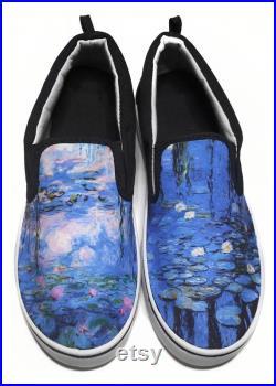 Claude Monet Water Lilies Slip-on Vans Brand Shoes