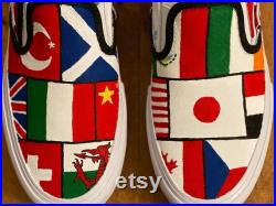 Country flag shoes