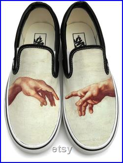 Creation of Adam Slip-on Custom Vans Brand Shoes