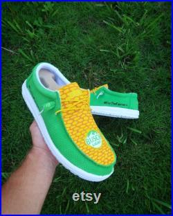 Custom BUSCH LIGHT CORN Slip on Shoes