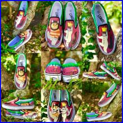 Custom Designed, Hand-Painted Shoes