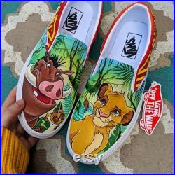 Custom Disney Vans , Custom Vans , Vans Slip Ons , Customized Vans , Custom Shoes, Unisex Shoes.