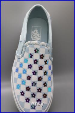 Custom Flower Slip On Vans