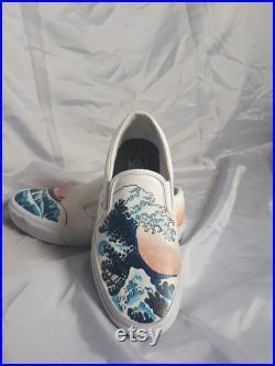 Custom Hand Painted Leather Vans
