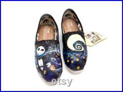 Custom Hand Painted Nightmare Before Christmas Shoes