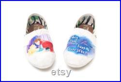 Custom Hand Painted Sleeping Beauty Wedding Shoes