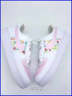 Custom Hand-painted Flower Nike Air Force 1 s