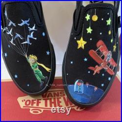 Custom Little Prince Slip-on Vans (Movie Edition)