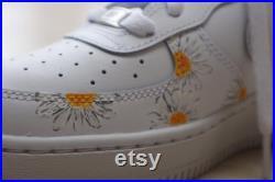 Custom Nike Air Force 1 X Sunflower and Daisy