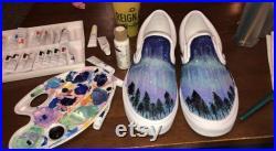 Custom Northern Lights Shoes