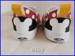 Custom Painted Minnie Mouse Shoes Slip-On Vans