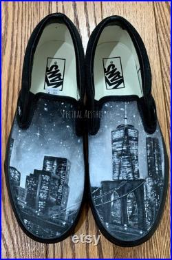 Custom Painted NYC Skyline Vans