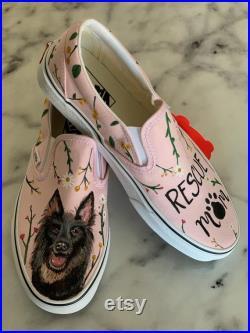 Custom Painted Pet Portrait Shoes