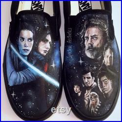 Custom Painted Star Wars The Force Awakens Vans