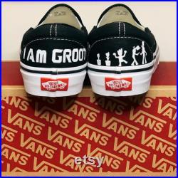 Custom Painted Vans Baby Groot Guardians of the Galaxy