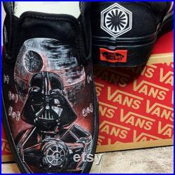 Custom Painted Vans Star Wars Dark Side
