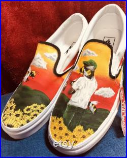 Custom Painted Vans, Tyler the Creator Flower Boy