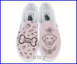 Custom Pet Vans, dog portrait, dog Vans, cat Vans, pet memorial, custom dog shoes