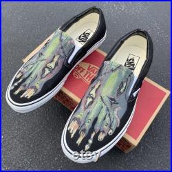 Custom Slip On Vans Zombie Feet Vans