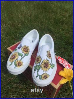 Custom Sunflower Vans
