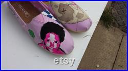 Custom Toms, natural, harry potter shoes, deadpool, spiderman, suicide squad, Harley Quinn, plum blossom, flower shoes