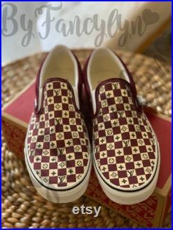 Custom Vans Designer Checkered
