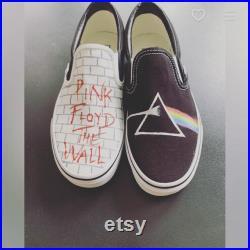 Custom Vans Pink Floyd Dark Side of the Moon The Wall