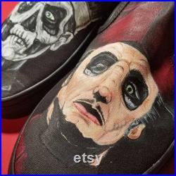 Custom Vans Slip-On Portrait Hand Painted