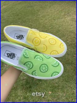 Custom Vans Slip Ons