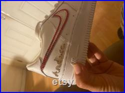 Customized Air Force 1 shoes with Swarovski or pearls