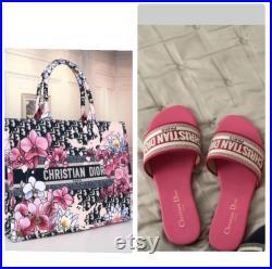 Designer purse and slides