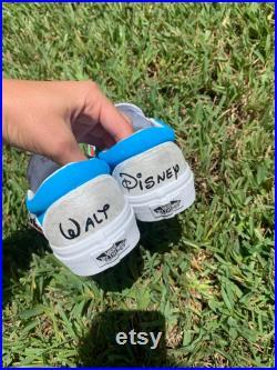 Disney Women s and Men s Handpainted Checkered Vans
