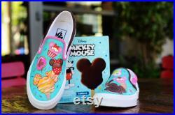 Disney custom painted shoes
