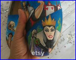 Disney shoes,Disney princesses,Disney villains, custom shoes, custom toms,hand painted shoes,Disney wedding shoes,hand painted Disney shoes