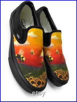 Flower Boy Slip on Custom Vans Brand Shoes