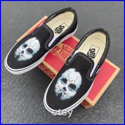 Friday the 13th Jason Custom Vans Slip On Sneakers
