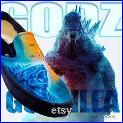 Godzilla vs. KONG Custom Shoes.