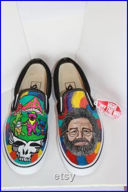 Grateful Dead, Jerry Garcia Custom Vans Shoes