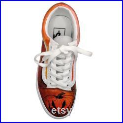 Halloween Shoes l Custom Painted Pumpkin Vans l Jack'O Lantern Shoes