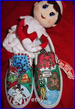 Hand Painted Christmas Decorated Vans